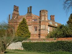 Shelton Manor Norfolk England | manor house from the churchyard manor house front in 1937