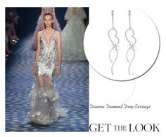 #Marchesa #S/S17 Collection - #DiamondDropEarrings - Get the Look by rajjewels on Polyvore