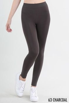 "Not See-Thru Charcoal Leggings 2"" Waistband  Love the Fabric: https://www.shoppinwithsailin.com/collections/new-arrivals/products/not-see-thru-charcoal-leggings-2-waistband?utm_content=bufferef420&utm_medium=social&utm_source=pinterest.com&utm_campaign=buffer  Searching for not see-thru leggings?  We have them!  These charcoal leggings are perfect to wear with any top, no matter the length! They sport a 2"" low waistband! Great color for Fall & Winter!  One Size Fits Most (0-12) 92% Nylon 8%…"