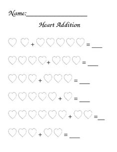 This product contains 4 worksheets to use for Valentine's Day math. For two of the worksheets, the students will use hearts to solve addition prob...