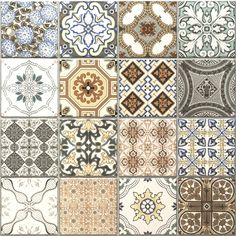 Vintage Decor Rustic Provence rustic tiles are beautiful country tiles which can be used as either wall or floor tiles. These decor tiles have been designed to co-ordinate with either the grey or terracotta tiles to create individual tile designs. Glass Tile Backsplash, Kitchen Wall Tiles, Wall And Floor Tiles, Kitchen Flooring, Patterned Kitchen Tiles, Flooring Tiles, Bathroom Shelves, Geometric Patterns, Tile Patterns