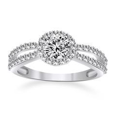Infinity Engagement Ring 1.80ct Round Cut VVS1 Diamond 10K Solid White Gold  #affinityengagementjewels #Infinity #(I-CMR11292-10KW-CZ)