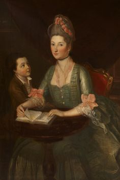 Portrait of Theodosia Hawkins-Magill, Countess of Clanwilliam, with her son, Richard, Lord Gilford, later Earl of Clanwilliam, attributed to Strickland Lowry, oil on canvas, c. 1772.