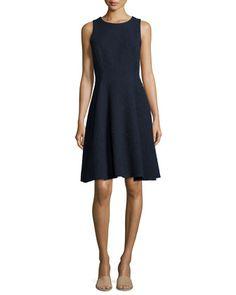 Udela Spring Tweed Sleeveless Dress by Theory at Neiman Marcus.