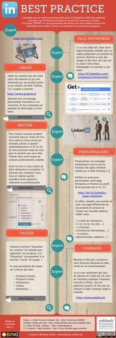 Mejores prácticas en Linkedin (experto) #infografia #infographic #socialmedia