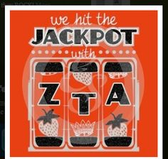 'We hit the JACKPOT with SSR' - Vegas themed bid day!! How cute!   #CasinoRoyale