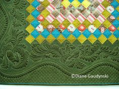 """Diane Gaudynski """"A New Tradition in Quilting"""" fab info on machine quilting - feathers, scallops, and more"""
