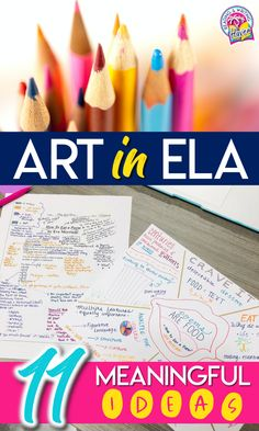Art can be meaningful in English Language Arts class. Read about 11 different ways to incorporate creativity options for students who like to express themselves through art. #HighSchoolELA #MiddleSchoolELA #EnglishTeachers #ELACurriculum Middle School Ela, Middle School English, English Classroom, English Teachers, Brain Based Learning, Creative Teaching, Teaching Kids, English Language Arts, Celebration Quotes