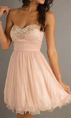pale peach dress, light peac... from sposadress on Wanelo