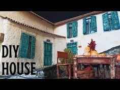 CONSTRUCCIÓN DE CASA DE PUEBLO DE BRICOLAJE - HICE DIORAMA - YouTube Village Houses, Book Nooks, 3 D, Youtube, Videos, Painting, Building Homes, Creative Crafts, Townhouse