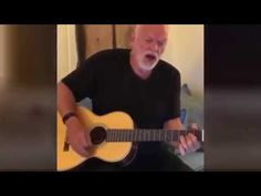 David Gilmour - Practicing on His Acoustic Guitar