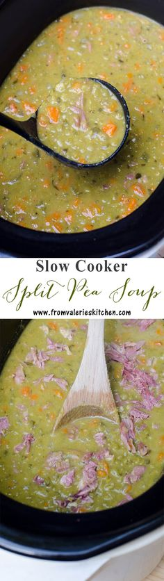 The BEST method to create creamy, delicious split pea soup! ~ https://www.fromvalerieskitchen.com