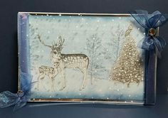 """8"""" x 6""""card designed by Jennifer Kray for Craftwork Cards using Frozen Forest Collection."""