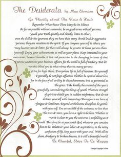 desiderata, holiday inspiration. gratitude. desiderata poem