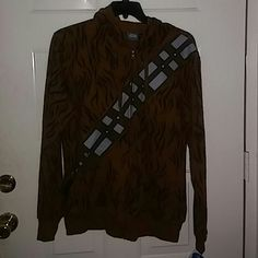 NWT Chewbacca hoodie This a Chewbacca star wars hoodie mens med and large available. Fathers day  gift idea disney Tops Sweatshirts & Hoodies