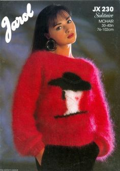 Vintage Wool, Vintage Sweaters, Gros Pull Mohair, Angora, Knitwear Fashion, Mohair Sweater, Mantel, Knitting Patterns, Womens Fashion