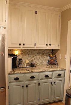 kitchen renovation, home decor, kitchen backsplash, kitchen design, Great new cabinet colors hardware granite and tile backsplash #newkitchencabinetsdesign