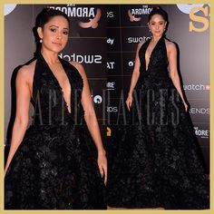 Nushrat Bharucha in Black Joao Rolo gown at GQ Style Awards 2018, Appearances