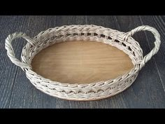 YouTube Newspaper Basket, Newspaper Crafts, Baskets On Wall, Wicker Baskets, Rolled Paper, Sewing Baskets, Flower Girl Basket, Wicker Furniture, Craft Videos