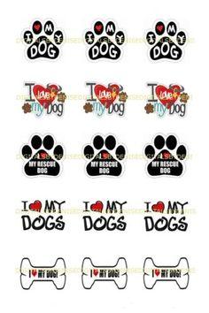 I-LOVE-DOGS-1-034-CIRCLES-BOTTLE-CAP-IMAGES-1-95-4-50