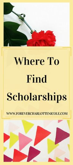 Where To Find Scholarships — Forever Charlotte Nicole