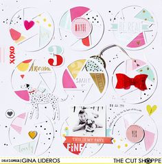 """The Cut Shoppe: Layout by Gina Lideros uses """"Stay Focused"""" cut file."""