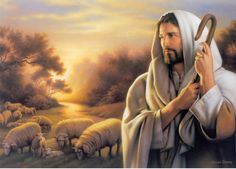 Jesus Picture The Shepherd With Sheep