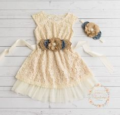 Ivory flower girl dress lace baby dress CHOOSE by SweetValentina