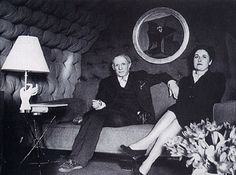 Dora Maar with Pablo Picasso, Pablo and Dora sitting in front of one of her paintings, Pablo Picasso, Dora Maar, Klimt, Picasso Pictures, Muse, Daughters Of Charity, Photo Negative, Portraits, Portrait Ideas