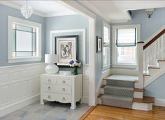 Benjamin Moore Hc 165 Boothbay Gray Decoration Hall Blue Paint Colors Bluish
