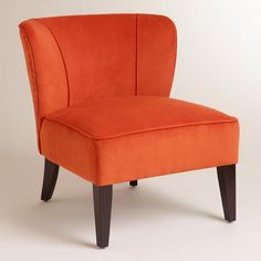 Our cosmopolitan Papaya Quincy Chair thrills in any setting with its chic, soft papaya orange hue and deep-seated, gently wing-backed design. Living Room Grey, Living Room Chairs, Office Chairs Canada, World Market Chair, Womb Chair, Love Your Home, Lounge, Cool Chairs, Chair And Ottoman