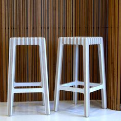 The fabulous BULL STOOLS by Earl Pinto. Now available in WHITE (and RED). MADE TO ORDER. $750