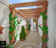 Se você está buscando encontrar inspiração para área externa da sua casa ou você está pronto para dar ao seu pátio ou varanda, a escolha de um projeto moderno deve estar no topo da sua lista, veja Corredores com Pergolados.