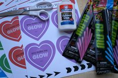 DIY Valentines For Kids: Cupid's Heart Glow Stick Valentines {Free Printable}