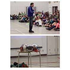 Mark Hatfield joined us Jags to present us with a motivational afternoon! #MarkHatfielf #Cfl #sjhs #jags #spiritweek #housecolours