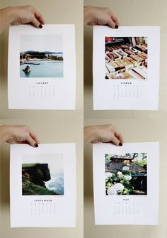 I would love to make a calendar like this.    Observant Nomad | free printable 2014 Calendar