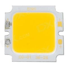 CG-01-36-26 DIY 8W 700lm 3300k Warm White COB Square Aluminous Module - Yellow + Silver (15~17V). Brand N/A Model CG-01-36-26 Material High conductivity aluminum + silicone Color White + silver + yellow colour system Quantity 1 Voltage 15~17V Product size 36 x 36 x 3mm Bulb interface Soldering Power 8W Keywords Luminous flux: 500~700lm; current: 500mA; color temperature: 3000~3300k; beam angle: 120'C; luminous surface: 26 x 26mm; working temperature: -20~+60'C; lifespan: 50,000 hours…