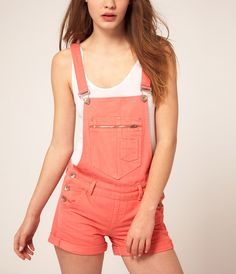 ASOS Overalls Denim Dungaree Shorts, Denim Overalls, Overalls Style, Trendy Outfits, Cool Outfits, Fashion Outfits, Salopette Short, Cute Overalls, Asos