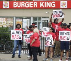 Fast-food workers protests