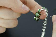 How to bead around a Rhinestone chain