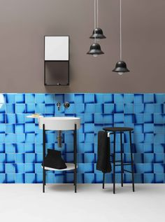 Beauty is in nuances. ARIA is a double-firing collection, whose peculiarity is its crackle glaze characterized by 3 different shades of colour in contrast with the background. The collection is developed in 4 colours, in square 13x13 cm size. Nuances are both background and decorations, giving dynamism to the wall covering. #aria #ceramic #madeinitaly #ceramicasenio #colour #ceramiclove #homedecor #bathroom #tiles Tiles, Glaze, Wall, Contrast, Shades, Decorations, Interiors, Collection, Bathroom