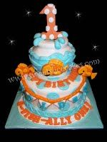 Goldfish 1st Birthday Cake