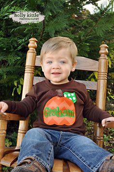 Boys pumpkin shirt -- Thanksgiving shirt -- Chevron Pumpkin -- brown shirt for… Monogram Shirts, Personalized Shirts, Dad To Be Shirts, Kids Shirts, Cute Outfits For Kids, Boy Outfits, Chevron Pumpkin, Little Man Style, Fall Baby Clothes