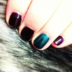 My jewel-toned #mani is 2/3rd of my Jewel Tone Trifecta design! #pinmyencore