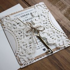 Handmade vintage invite with a choice of finishing by DanniHumber