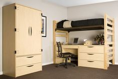 bedroom appealing dorm room ideas for students with attractive plywood wardrobe and bed level above study table comfortable and cool dorm room ideas