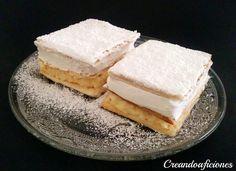 Creandoaficiones: Milhojas de merengue y crema pastelera