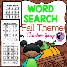 Fall : Fall : Fall : FallAutumnWord Searchwith Answer KeyThis unit includes three sheets of word search, with a total of 36 words.You may print and laminate the sheets and use them in your Literacy Center.Please see the preview!********************************************************Please see these  resources:   FALL MATH ACTIVITIES   FALL COLORING SHEETS   MATH ACTIVITIES   BL CL FL BLENDS CLIP-IT CARDS   GL PL SL BLENDS CLIP-IT CARDS   SHORT A CLIP-IT CARDS   SHORT E CLIP-IT CARDS…