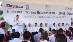 Murat y titular de Inifed arrancan inversión de 2 mmdp en Oaxaca