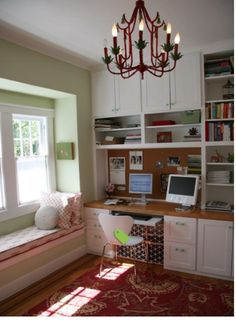 Office with window seat
